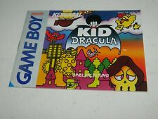 Kid Dracula for Game Boy - Manual only GB German
