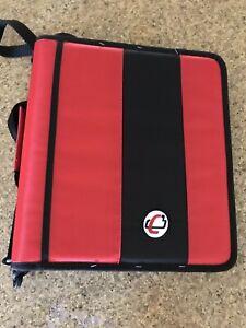 "Case-It The Classic 2"" 3-Ring Zipper Binder w/Handle & Shoulder Strap"