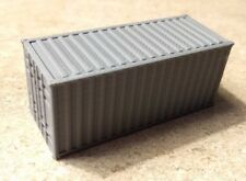 Set of 3 HO Scale Silver 20' Foot Shipping Container Intermodal Containers