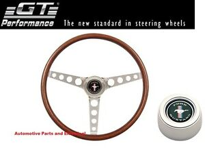 FORD MUSTANG 1964 - 1969 GT Perf Steering Wheel COMBO INC Horn button & Hub