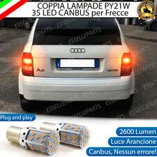 COPPIA LAMPADE PY21W BAU15S CANBUS 35 LED AUDI A2 FRECCE POSTERIORI NO ERROR