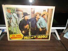 VINTAGE 100% ORIGINAL LOBBY CARD PALS IN THE SADDLE JOHN WAYNE '38 3 MESQUITEERS