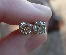 1 5 Ctw 6 Mm Charles Colvard Moissanite Diamond Earrings 14k Wg