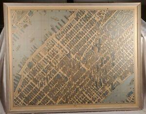 New York City Map 1963 Hermann Bollmann Bird's Eye View Pictorial Cartography 3D