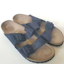 Mens Birkenstock size 44 US 11 285 Arizona Sandals Unworn Blue Suede