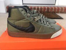 """Nike Blazer Hi """"Tech Pack"""" RARE 2007 Men's - URBAN HAZE/ BLACK-ICE GREEN Sz 11"""