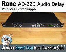 Rane AD 22D Audio Delay Rackmount with RS-1 Power Supply Tested - Nice Condition