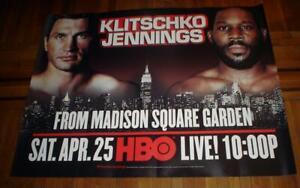 HBO BOXING Wladimir Klitschko VS BRYANT JENNINGS 5FT SUBWAY POSTER 2015 BOXING