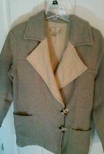 Classic Exursion Womens Jacket Light Wool Toggle Duffle Winter Coat Size M