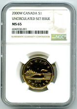 2000 W MINT MARK CANADA $1 LOON NGC MS65 UNCIRCULATED LOONIE POP3