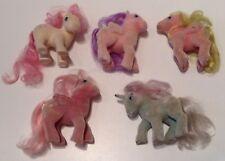 1984-1985 Retired Vintage Hasbro My Little Pony So Soft Fuzzy Body Lot Set Of 5
