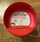 1.5 GALLON PLASTIC BUCKET POULTRY WATERER W/ CARRY HANDLE/LEGS CHICKEN DRINKER