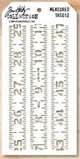 Tim Holtz Layering Stencil Template - Measured - Measuring Tape, Ruler, Sizing