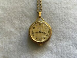 Swiss Made Lucerne Mechanical Wind Up Necklace Pendant Watch