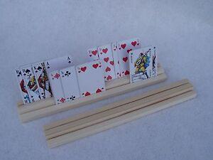Spielkartenhalter, Kartenhalter Holz