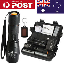 20000LM SHADOWHAWK LED FLASHLIGHT RECHARGEABLE TACTICAL TORCH 2x BATTERY