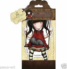 DOCRAFTS Papermania grandes urbanas Rubber Stamp Santoro's Gorjuss Ruby on a swing