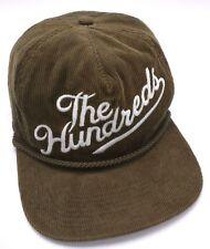THE HUNDREDS corduroy green adjustable cap / hat - distressed
