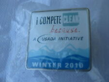 2010 Vancouver Winter Olympic USADA I Compete Clean Pin