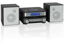 Compact Bookshelf Stereo System Am Fm Radio Cd Mp3 Shelf Speakers Aux-In Remote