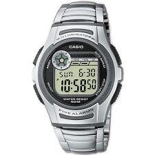 Casio Uhr W-213D-1A Herren Digitaluhr Armbanduhr Silber Schwarz Watch NEU & OVP