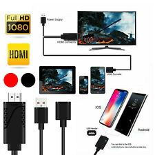 3 in 1 3 ft 1080P USB to HDMI Cable Adapter Connector For iPhone Android Samsung