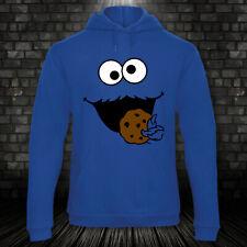 Krümelmonster Cookie Monster Hoodie Feiern Kostüm Karneval Fasching XS-4XL