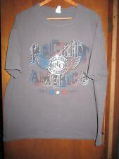 Reo Speedwagon- Rockin' America Lic OOP- Grey T-Shirt- XXLarge