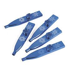 24 Christimas Winter Holiday Metallic Snowflake Kazoos Frozen Noisy Party Favors