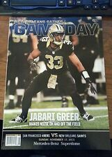 2013 New Orleans Saints v SAN FRANCISCO PROGRAM JABARI GREER
