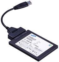 "USB 3.0 auf SATA Adapter 22 Pin 2.5"" Zoll HDD Festplatte SSD Kabel Converter"