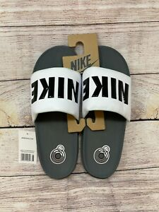 Men's Nike OffCourt Slide Dark Grey/Black White Size 11 (BQ4639 001)