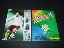 WAYNE ROONEY ENGLAND PANINI CARD FOOTBALL GERMANY 2006 WM FIFA WORLD CUP