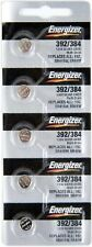 5Pcs Energizer 392 384(SR41SW) Silver Oxide Watch Batteries
