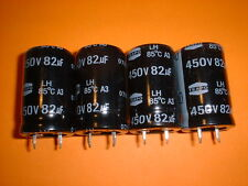 4x Elko 82µF/450V 85°C 22x35mm RM10mm Snap-In 82uF
