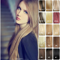 14''18''20''22''24'' 100% Real Clip in Human REMY Hair Extensions Full Head