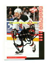 DOUG GILMOUR Mint AUTO 1997 PINNACLE Score CARD NEW JERSEY DEVILS/Leafs HOF WoW