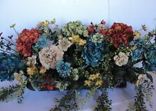 """Rustic Colorful Tuscan Flower Arrangements for your 24""""L Window Box Spans 30"""""""
