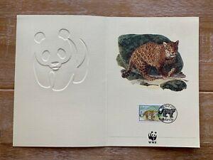 BELIZE 1983 GREETINGS CARD WWF JAGUAR BIG CATS 2/1991