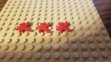 Lego Castle Minifigure Red Dragon Plume Helmet Accessory Dragon Knights Lot of 3