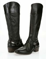 Vince Camuto Brunah Womens Dark Brown Leather Side Zipper Knee High Boots Size 7