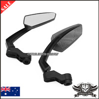 Motorbike Motorcycle Clear Rearview Mirrors Rear View Side Mirror 8 10mm  Carbon