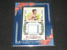 BRENNAN BOESCH TIGERS 2011 ALLEN GINTER GENUINE AUTHENTIC GAME USED JERSEY CARD