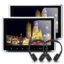2 x 10.1 Zoll Auto Kopfstütze DVD Player Monitor TFT Bildschirm USB SD+Kopfhörer