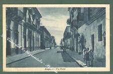 Sicilia. AUGUSTA, Siracusa. Via Roma. Cartolina d'epoca viaggiata.