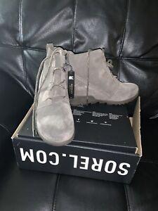 Sorel Evie Lace Boot Sz 9.5 Grey