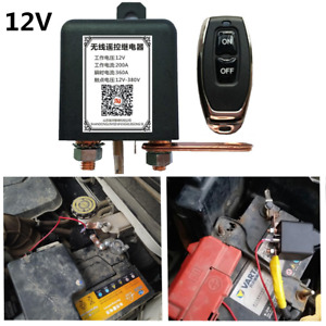 12V Battery Isolator Disconnect Cut Off  Master On/Off w/Wireless Remote For Car