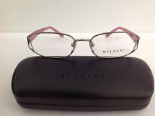 Bulgari occhiale da vista metallo rosa elegante  donna rossa €230 ovale plastica