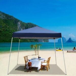 10'X10' Canopy POP UP Outdoor Gazebo Party Tent Folding  Beach Sun Shade Blue