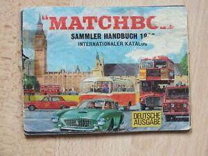 MATCHBOX SAMMLER KATALOG 1966 DEUTSCHE AUSGABE